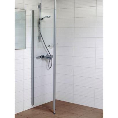 Kiinteä suihkuseinä, kirkas 57x185 cm