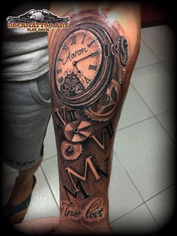 Resultado de imagem para tatuagem fechamento de braço relogios