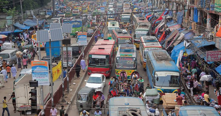 A visit to the city of Dhaka, where there are two types of traffic: really bad and really, really bad.