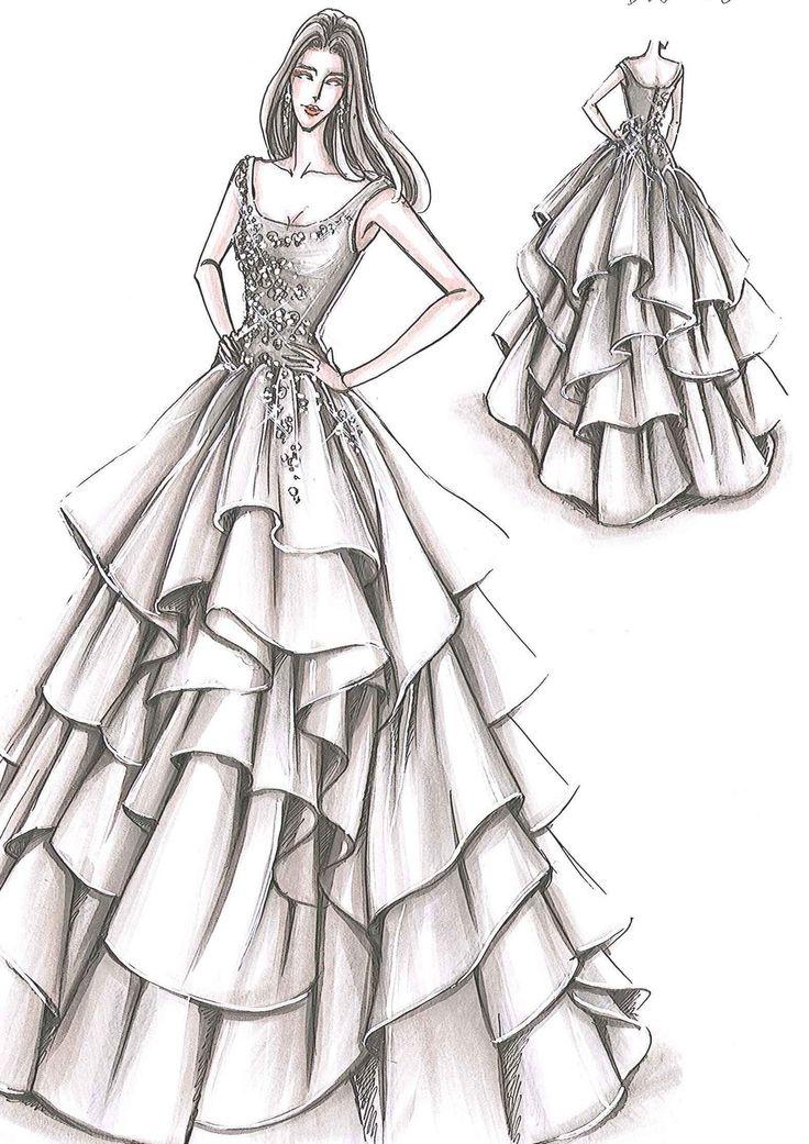 Рисунки карандашом платья для начинающих дизайнеров верили, что