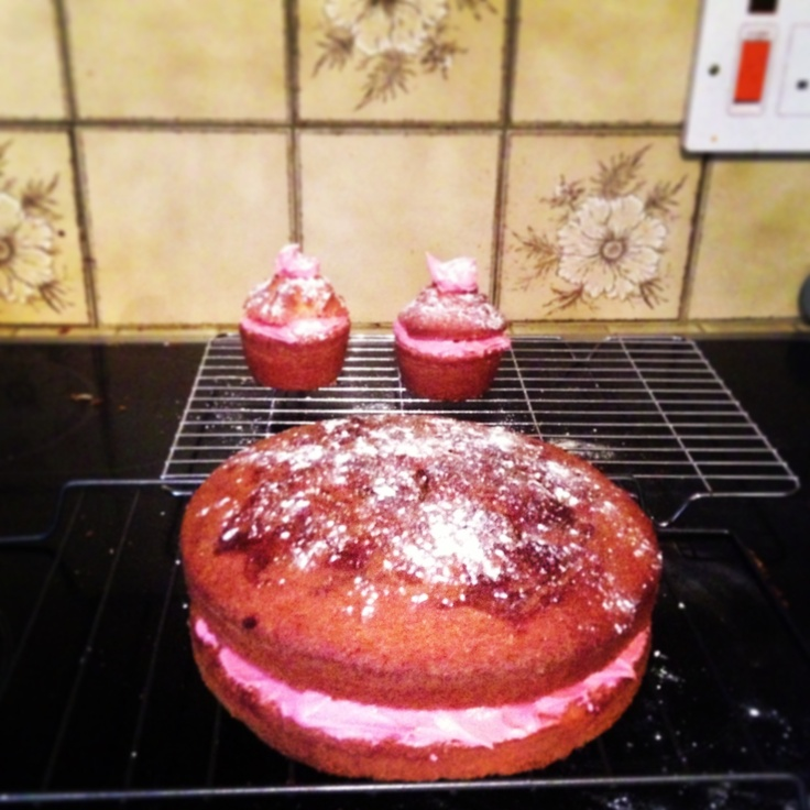 My first attempt at making cakes #cake