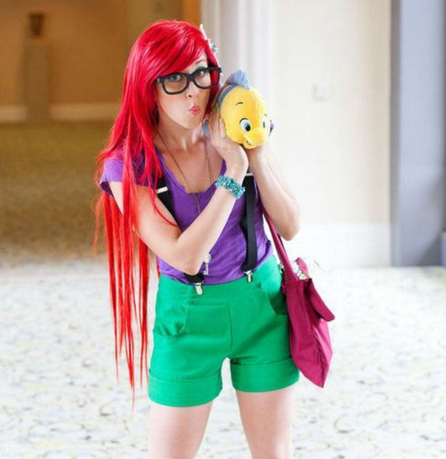 Hipster Ariel - Halloween Costume - 12 DIY Disney Costumes for Halloween via Brit + Co.