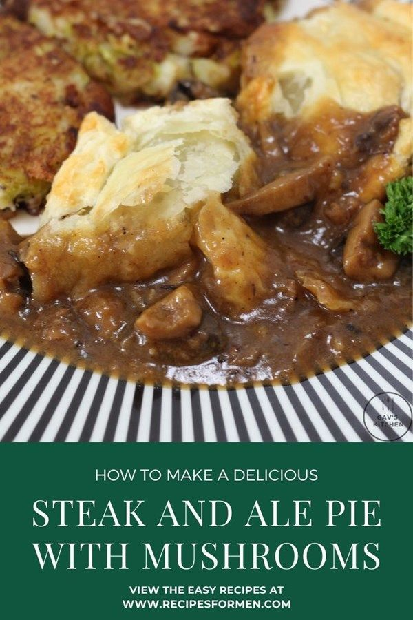 Steak and ale pie with mushrooms - delicious tender steak ...