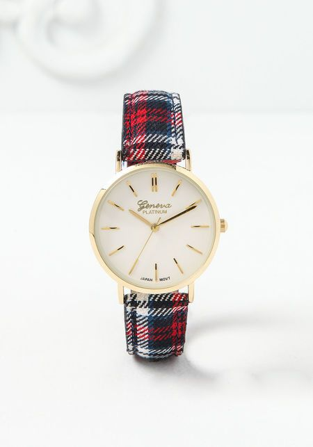 Red Plaid Watch - LoveCulture.com