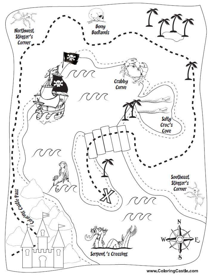 Image result for mapas piratas para imprimir para cumpleaños ...