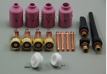 TIG Welding Consumables Accessories KIT Gas lens Nozzle insulator Cup Fit TIG welding Torch SR PTA DB WP 17 18 26; 17PK  M326