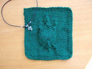 Free Knitting Pattern - Dishcloths & Washcloths : Embossed Turtle Dishcloth