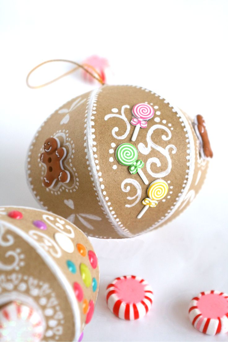 Faux Gingerbread Ornaments | The Glitter in My Tea for DawnNicoleDesigns.com