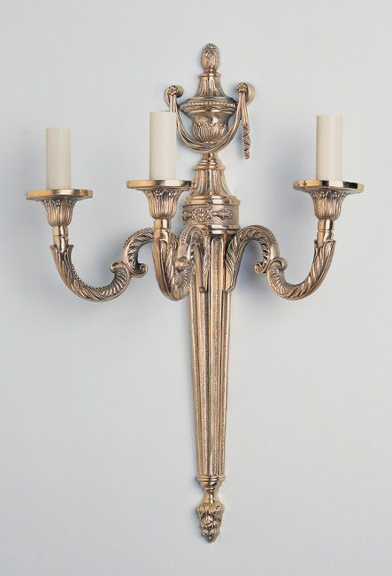 W4-047 - Large Traditional 3 Arm Empire Wall Light