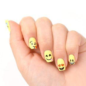 """Emoticons│Emoticones - #Emoticones - #Emoji """"se puede hacer en las uñas normales no el las de porcelana"""""""
