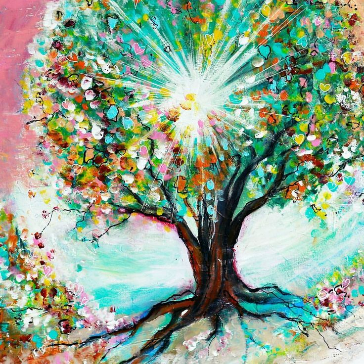 ' I am the Resurraction and the Life, who believes in Me, though he may die, he shall live..' John 11: 25,26 this tree is painted with many colours..He is the most colourful Person we know..the leaves are in shape of hearts because of His love for us and thety are for the healing of the nations..we are His fruit..followers and believers of Him He died so that we have eternal life..@karenaguilar_art for the7days- artchallenge#biiblejournaling40dayschallenge#bijbeljournaling#biblejournaling