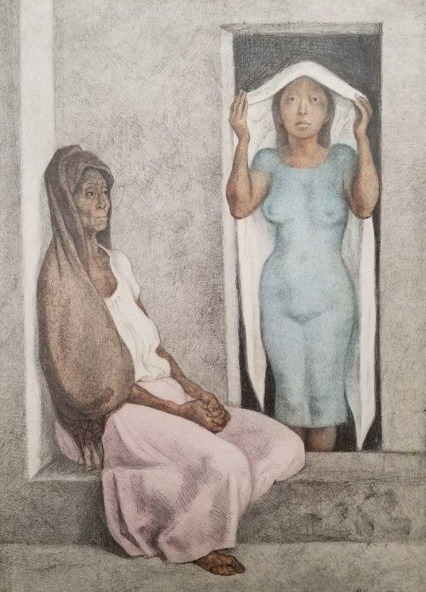El Robozo Blanco (The White Shawl) 1986 by Francisco Zuniga