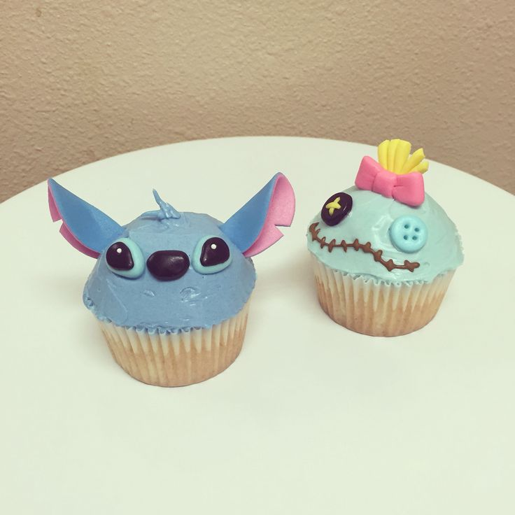 Stitch and Lilo Cupcakes