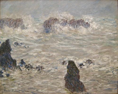 Image: Monet, Tempete, cote de Belle-Ile, 1886