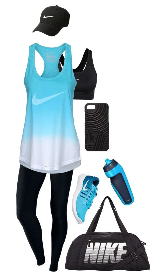 """""""Brand Loyalty: Nike"""" by mynymonster ❤ liked on Polyvore featuring NIKE, dance, workout and nike"""