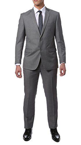 56L Zonettie Mens ZNL101 Light Grey 2pc Suit Ferrecci ...amazon.com