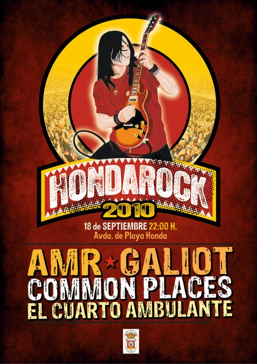 Cartel HondaRock 2010