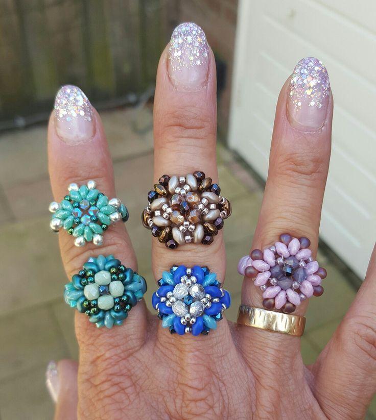 Zelfgemaakte ringen van superduo's