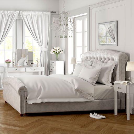 Paris White Glass Bedroom Furniture
