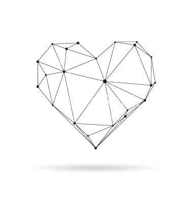 Die besten 25+ geometrisches Herz Ideen auf Pinterest Diamant - schlafzimmer zeichnen
