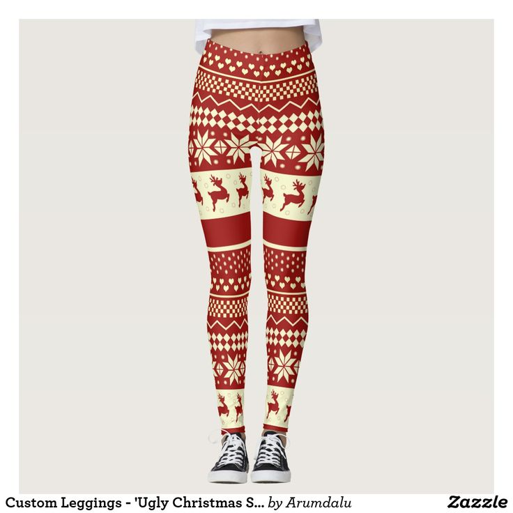 Custom Leggings - 'Ugly Christmas Sweater'