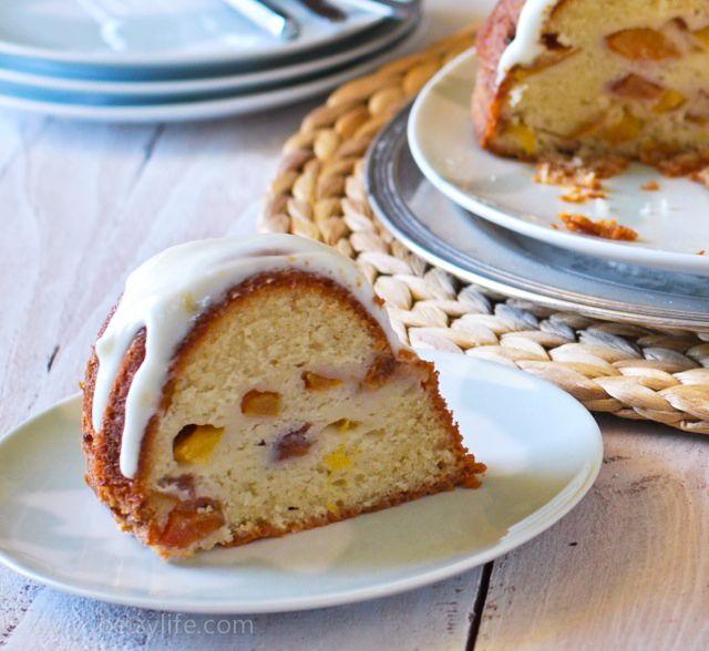 Peaches and Cream Bundt Cake - betsylife