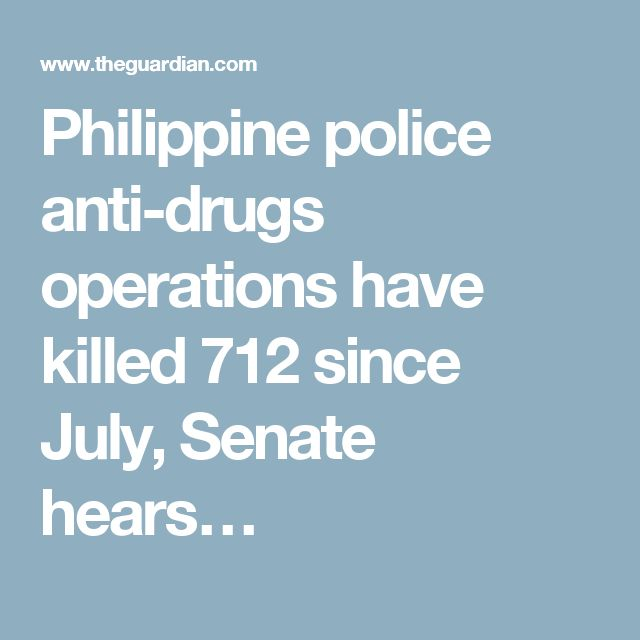Philippine police anti-drugs operations have killed 712 since July, Senate hears…