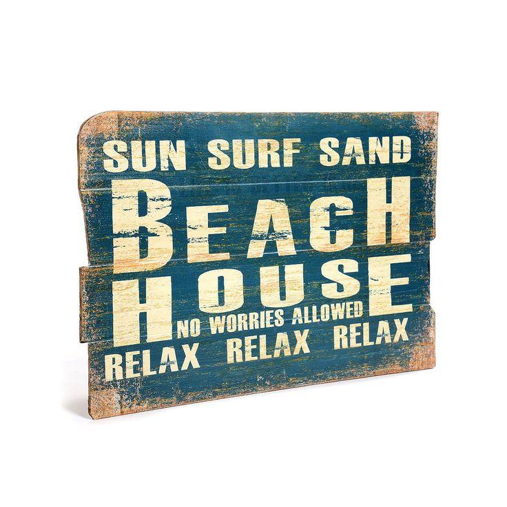 bild beach house holz petrol ca b 40 l 60 cm bild beach. Black Bedroom Furniture Sets. Home Design Ideas