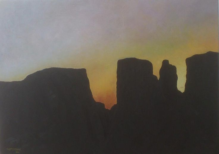 Valley of Desolation Oil Painting - Christiaan Combrink 2015