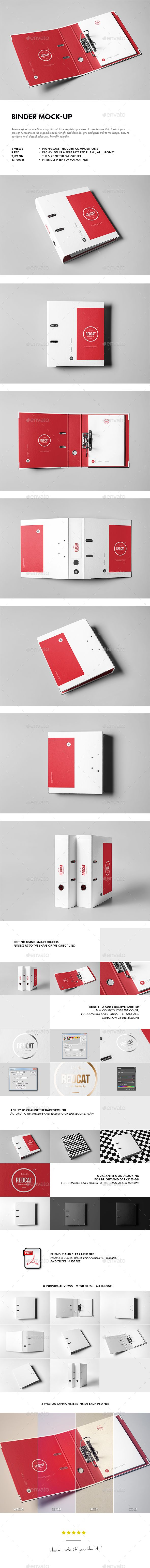 8 Photorealistic Binder Mock-up. Download here: http://graphicriver.net/item/binder-mockup/14629983?ref=ksioks