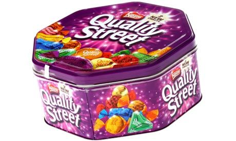 Quality Street Tin, Another good cake tin. I am more partial to Roses myself.