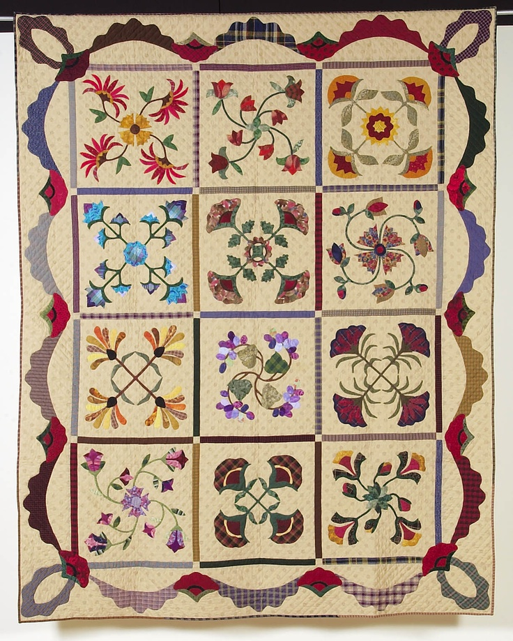 Juanita Reed, Flower Garden.  1st Place Applique/Purchase Award,  Best of Show 2003