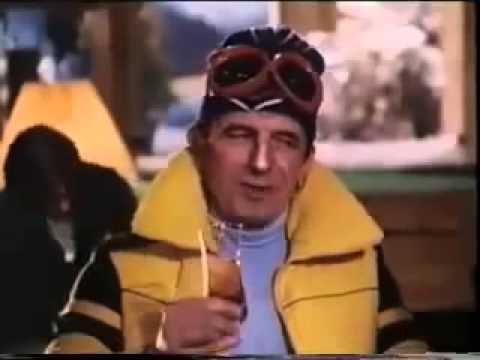 Martini Cinzano Bianco ski lodge ad with Leonard Rossiter & Joan Collins.