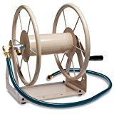 Liberty Garden Products 703-1 Multi-Purpose Steel Wall and Floor Mount Garden Hose Reel Holds 200-Feet of 5/8-Inch Hose  Tan