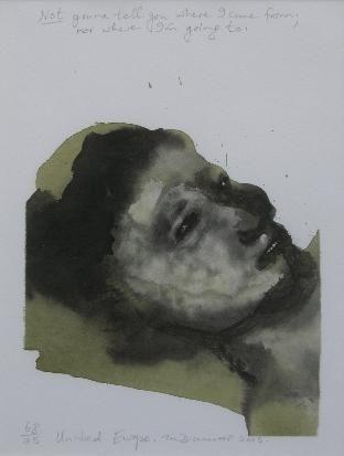 Marlene Dumas United Europe (xx/75) 2008-11 / SW / 28.000 ZAR