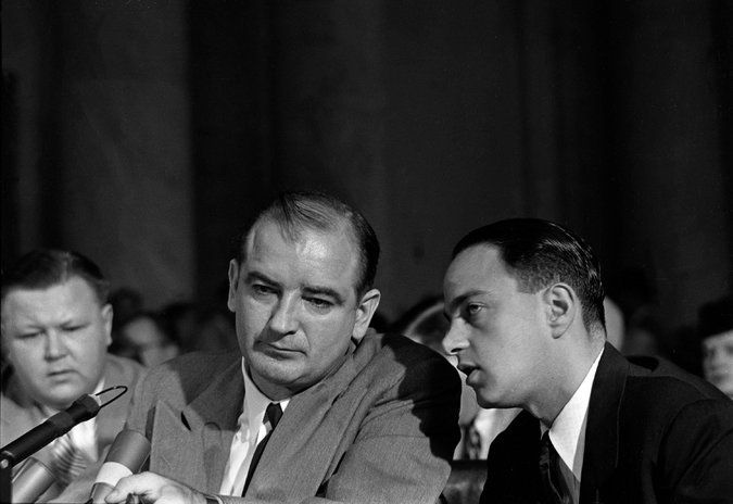Roy Cohn, the Red-baiting Senate adviser and fearsome lawyer, counseled a young Mr. Trump for many years, nurturing a style of bluster and smears.