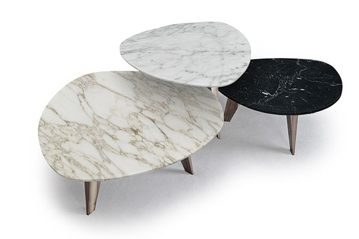 9500 SMALL TABLE 40 41 42 Canaletto walnut or bleached oak or moka stained. Top Carrara white marble or Calacatta gold marble or Marquinia black marble. To purchase these items contact RADform at +1 (416) 955-8282 or info@radform.com #contemporarydesign #interiordesign #modern #furnituredesign #radform #architecture #luxury #homedecor #white #marbletable