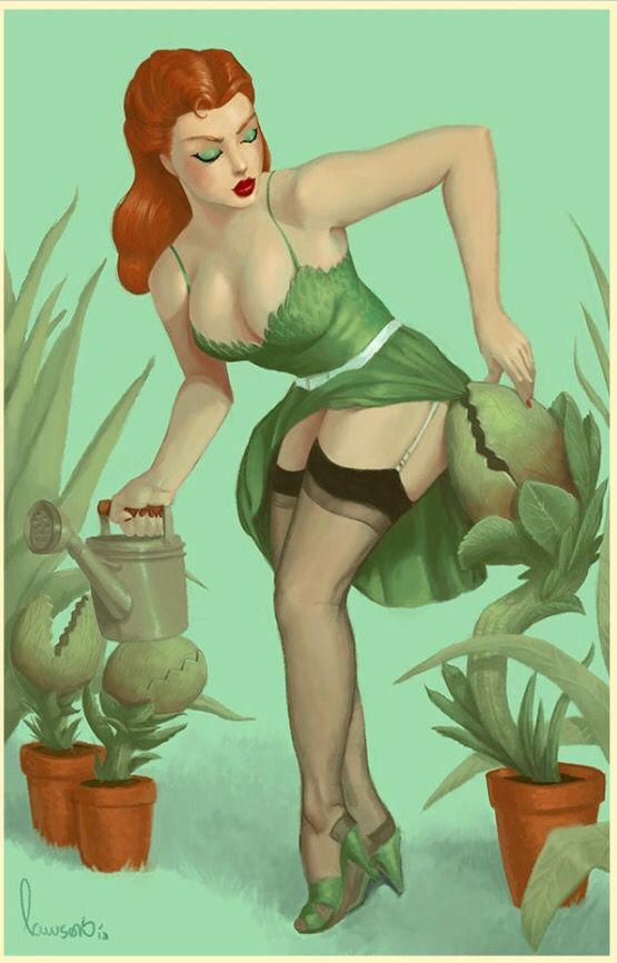 50's pin up style Poison Ivy