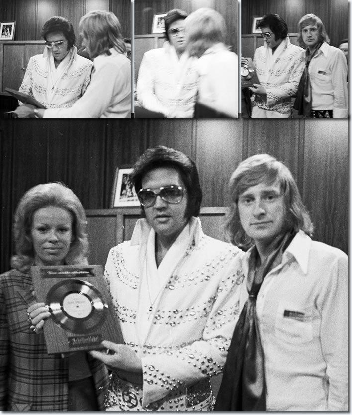 Erik Lorentzen from Norway met Elvis backsatge in Nassau Coliseum, Uniondale, NY, June 23, 1973.