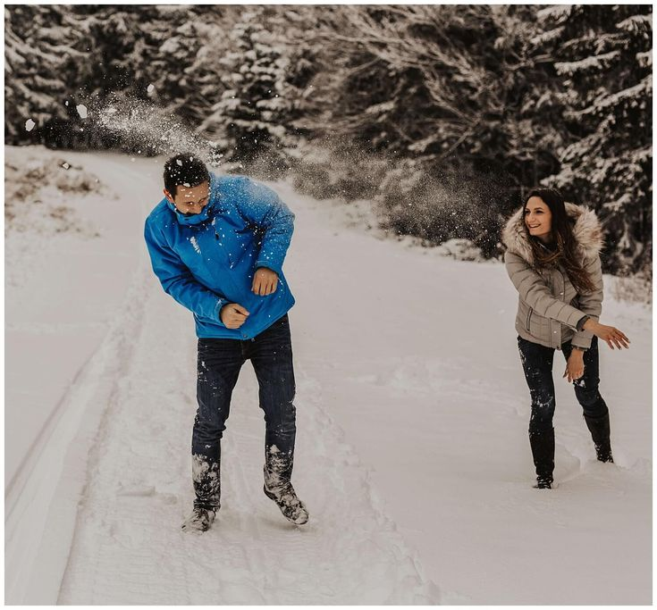 Winter couple shoot | Adventurous couple photography