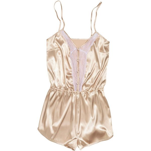 Satin teddy $29.95 ($30) ❤ liked on Polyvore featuring intimates, lingerie, underwear, dresses, pajamas, satin lingerie and teddy lingerie