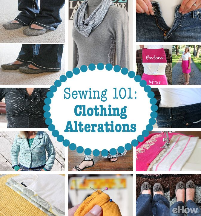 Alterations you can do yourself! Learn these simple tricks that will save you many, many stops to your local tailor. It doesn't matter if you are new to sewing! These tutorials have step-by-step pictures and instructions: http://www.ehow.com/how_12342962_sewing-101-basic-clothing-alterations-can-yourself.html?utm_source=pinterest.com&utm_medium=referral&utm_content=freestyle&utm_campaign=fanpage