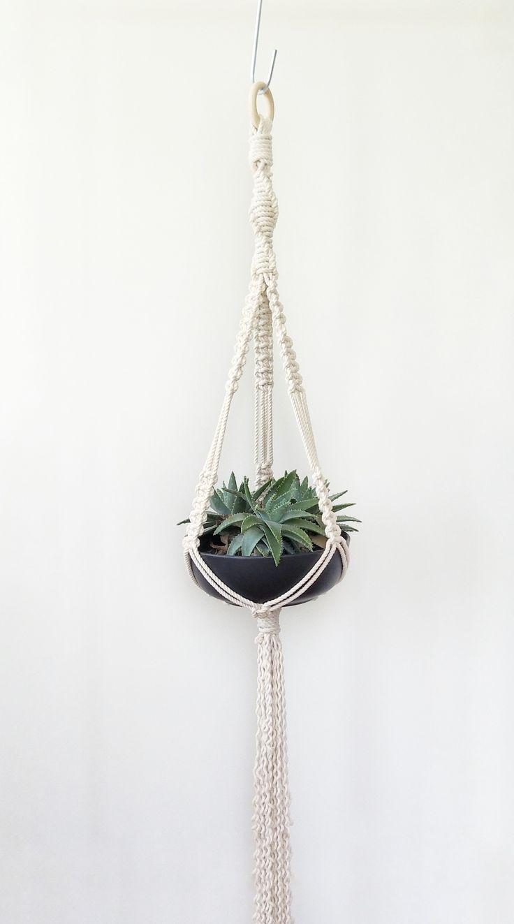 macrame plant hanger/ plant hanger/ hanging planter/ pot hanger/ plant holder/ boho decor/ macrame hanger/ indoor planter/ macrame planter