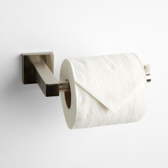 ultra collection euro toilet paper holder satin nickel