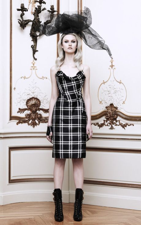 Silk-Taffeta Checked Bustier Dress by Vivienne Westwood - Moda Operandi