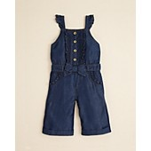 Juicy Couture Infant Girls' Denim Romper - Sizes 3-24 Months
