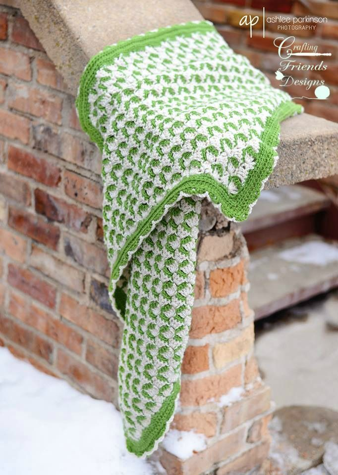 "This crocheted green and cream afghan is one of my favorite afghan designs so far! The Ribbon Candy Afghan was designed C2C (corner to corner) to give a fun ribbon look to the colors. Finished size is 40""x40"" using 36oz of Red Heart Soft yarn with instructions on how to easily adjust to your desired size. Skill Level: IntermediateFun, warm, soft and perfect to add the feel of comfort to any room. This afghan would make a wonderful gift for baby showers, birthdays, Christmas, weddings or j..."