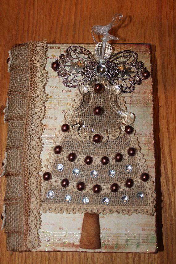 17 best images about burlap crafts decor on pinterest for Burlap christmas curtains