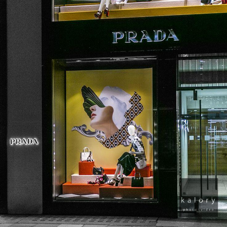 """PRADA, Old Bond Street, London, UK, """"I always wanted to be different, I always wanted to be first"""", (Quote Miuccia Prada), pinned by Ton van der Veer"""