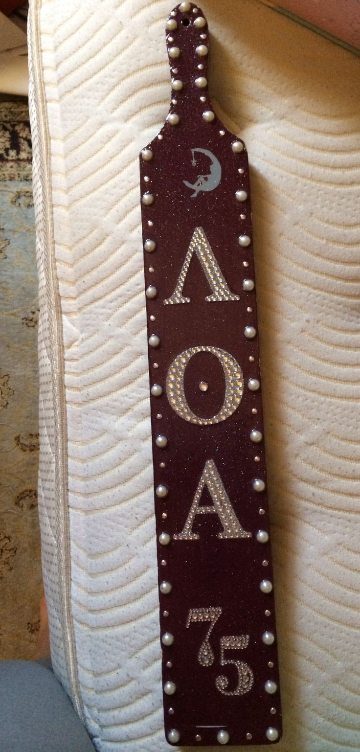 LAMBDA THETA ALPHA custome made paddle. | love it!